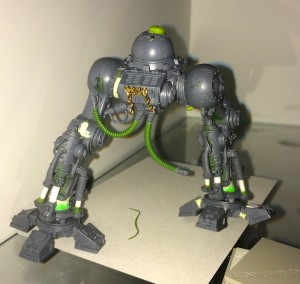 Green Stuff tubes on Imperial Knight legs