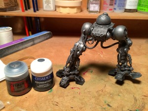 Imperial Knight converted legs