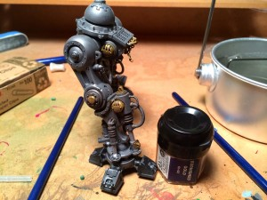 Imperial Knight leg aged brass