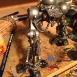 Imperial Knight leg worn metal