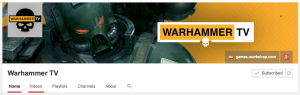 WarhammerTV YouTube header