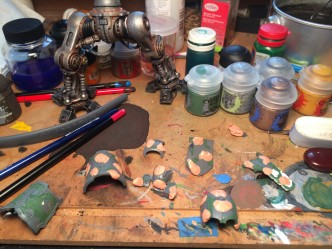 """Imperial Knight Titan armor with """"mapped paint"""" preparation"""