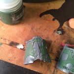 "Imperial Knight Titan armor with ""mapped paint"" preparation"