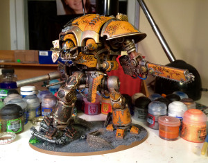 Test fitting the Queen Bee Imperial Knight