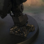 Ironclad pistons on Space Wolf dreadnought foot