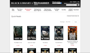 The Black Library Quick Reads page