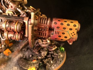 Heat-stained brass on Thermal Cannon