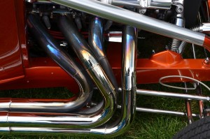 Heat-stained tailpipes