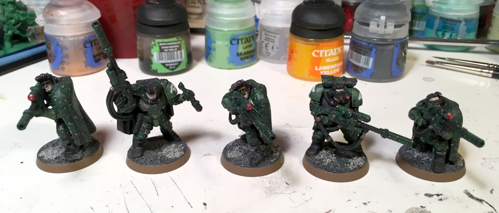 Space Marine scout snipers