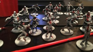 Black and white Zombicide models