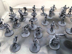 Black and white Zombicide with gray highlight