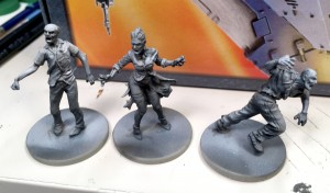 Black and white Zombicide test models