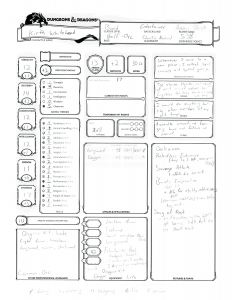 Kirth Whitehand's character sheet